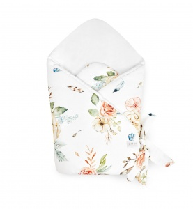 BAMBOO SWADDLE WRAP VINTAGE Flowers